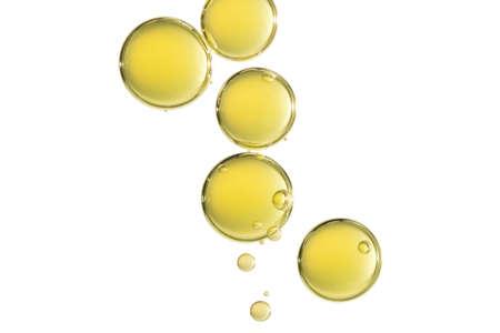 Sommige grote gele luchtbellen isoleren over een witte achtergrond