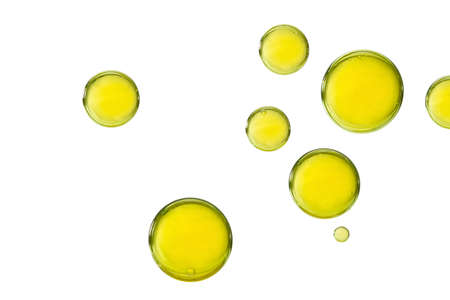 A group of light yellow paint bubbles