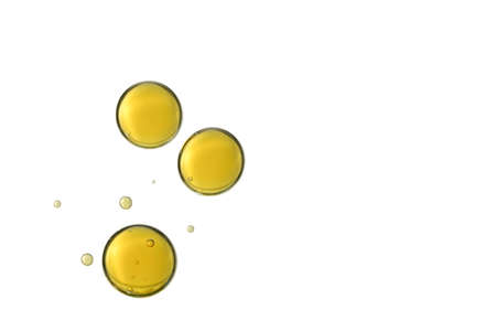 Beautiful dark yellow air cells isolated over a white background.  Imagens