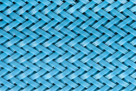 Blue woven herringbone surface