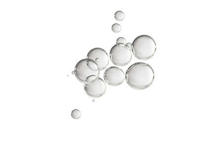 A group of clear bubbles isolated over a white background Imagens - 103586045