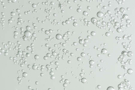 Many small liqiud bubbles isolated over a blurred background. 스톡 콘텐츠