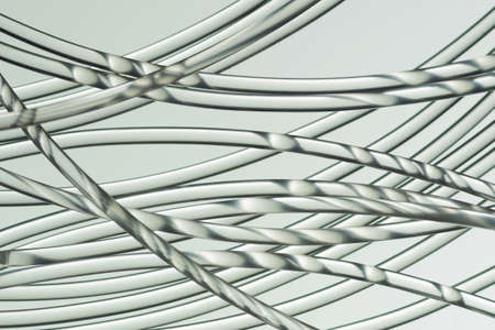 Slightly bended wires in a random pattern