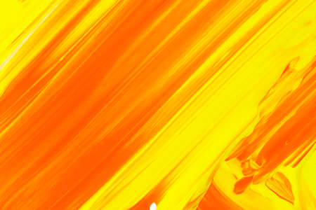 A orange and yellow art painted surface.