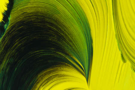 A green and yellow abstract wave pattern. 写真素材