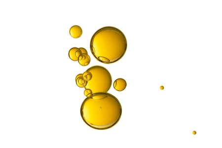 Schöne gelbe Tropfen getrennt über einem weißen Hintergrund.