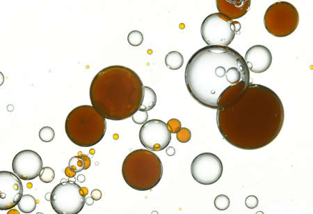 Dark yellow and white bubbles blended toghether.