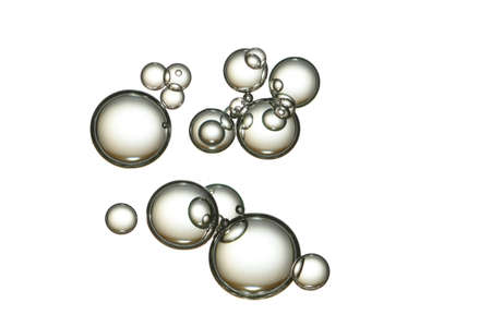 Carbonated water bubbles isolated over white. Standard-Bild - 156372179