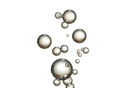 Champagne bubbles, isolated with a white background.