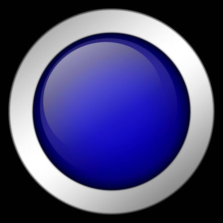 abstract blue button (very high resolution)