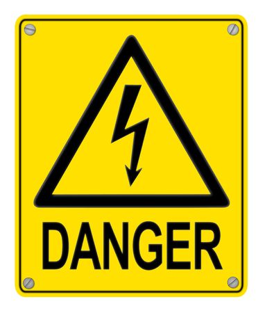 worksite: high voltage danger sign
