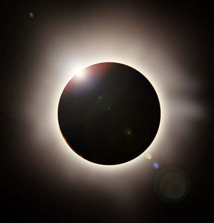 astrophysical: solar eclipse rendering Stock Photo