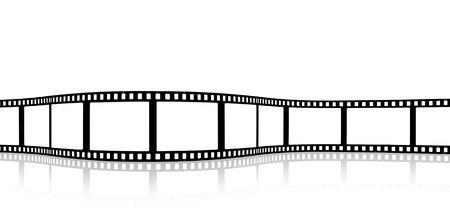 blank wavy film strip