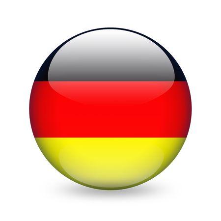 bandera de alemania: pabell�n alem�n bot�n Foto de archivo