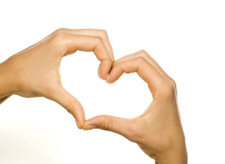 hands forming a heart photo