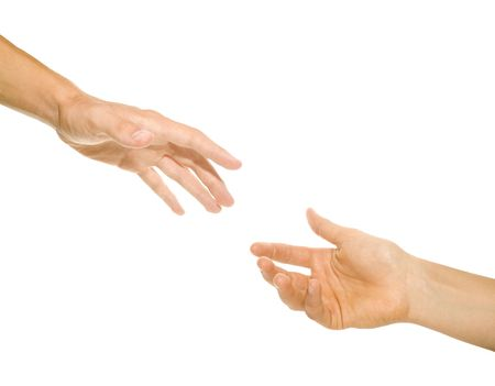 the helping hand (cooperativeness concept image) Stock Photo
