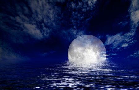moon and sea Stock Photo - 5114869