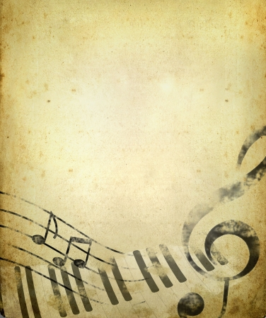 vintage music background Stock Photo