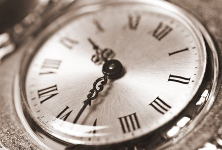 clockface of a pocket clock Stock Photo - 5114807