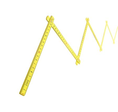 yellow ruler isolated on white background