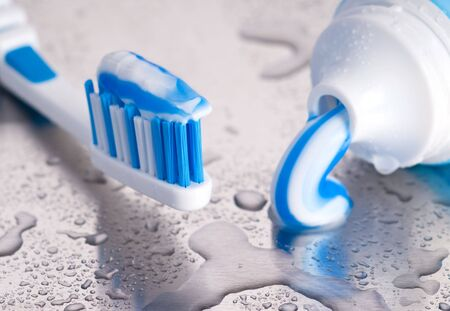 paste: tooth brush and paste