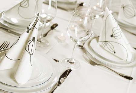 cater: table setting