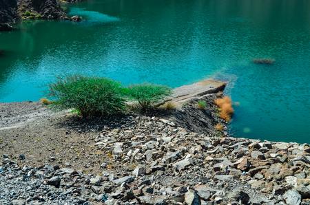 Hatta Dam Green Lake, Dubai,