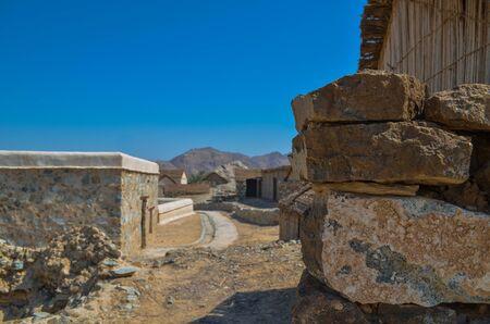Heritage Village Ruins, Hatta, Dubai 版權商用圖片