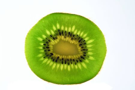cathartic: Delicious looking piece of Kiwi Fruit, close-up