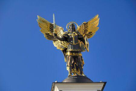 michael the archangel: Archangel Michael, Maydan nezalejnosti, Kiev, Ukraine
