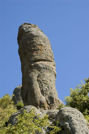 phallus: Rock like phallus symbol, in Ghost Valley, Crimea mountains