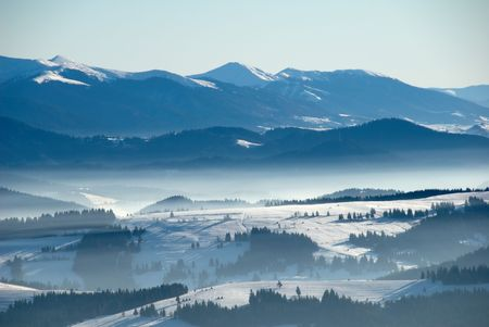 clowds: Carpathian mountains view, Ukraine