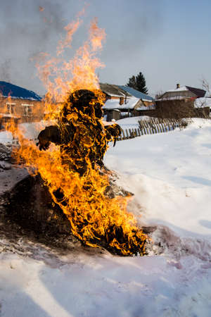 the traditions of pagan Slavic rituals Stock fotó