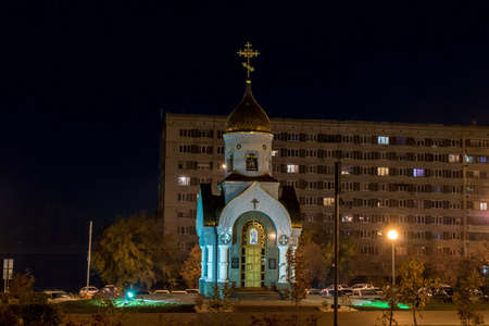 Kemerovo, Russia, 04.10.2014, Chapel of St. Gregory the Wonderworker of Kiev-Pechersk