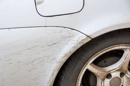 dirt and sand flies from under the rear wheel onto a painted surface and spoils the coating creating spots that are vulnerable to rust