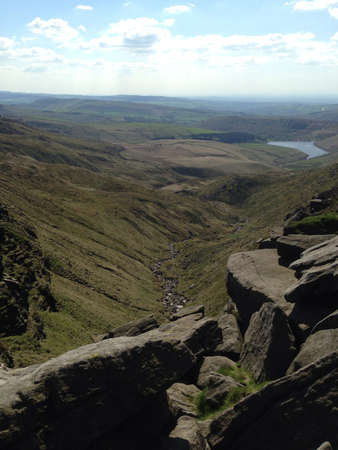 kinder: Top of kinder downfall in the summer  Stock Photo