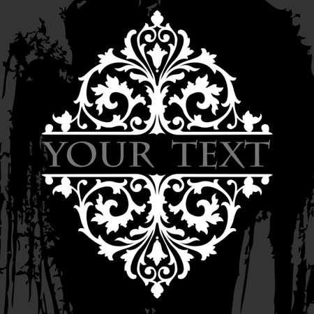 black history: Black And White Ornate Grunge Tribal Quad Illustration