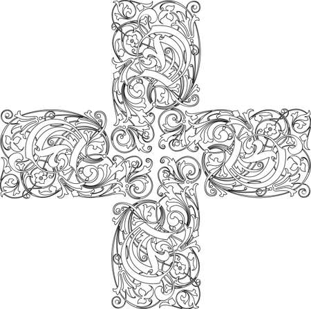 abstract cross: Calligraphy cross