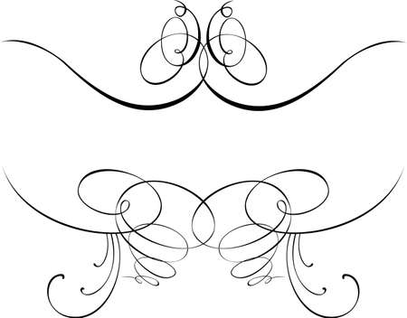 free vector art: Calligraphy Baroque Curves. Other Calligraphy in Portfolio.