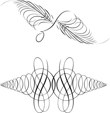 free vector art: Calligraphy Symmetry Curves. Other Calligraphy in Portfolio. Illustration