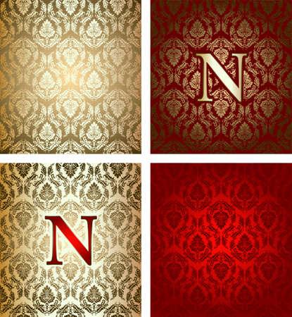 napoleon: Red Gold Royal achtergrond Stock Illustratie