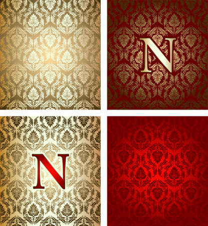 napoleon: Red Gold Royal Background Illustration