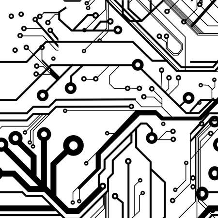 processors: Seamless Printed Circuit Board Pattern