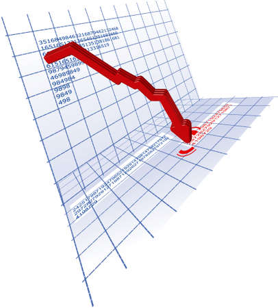 profitability: Down Red 3D Trend