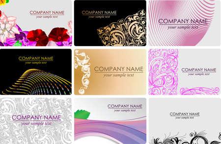busines: Glamour Fashion Busines Cards Illustration