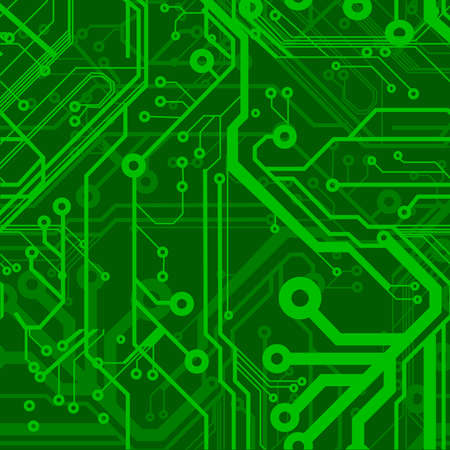 digitaldruck: Green Seamless Printed Circuit Board Pattern