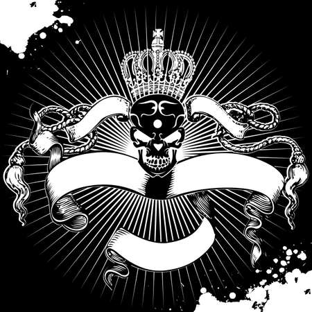 Crown Skull Registrati Vettoriali