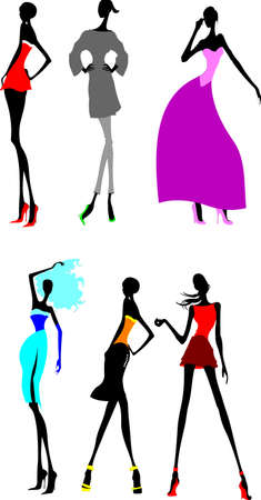 boutique: Six Fashion Long Legs Girls. Other In My Portfolio.