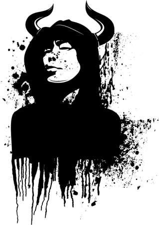 horned: Horned Man In The Hood.