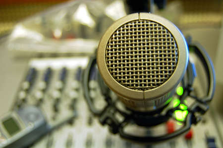 Microphone Soft Focused Sound Mixing Console photo